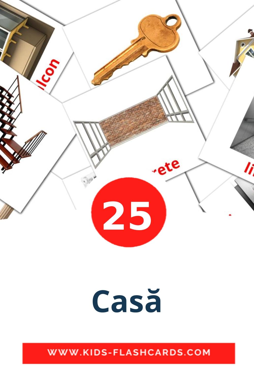 25 Casă Picture Cards for Kindergarden in romanian