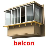 balcon picture flashcards
