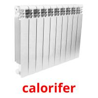 calorifer picture flashcards