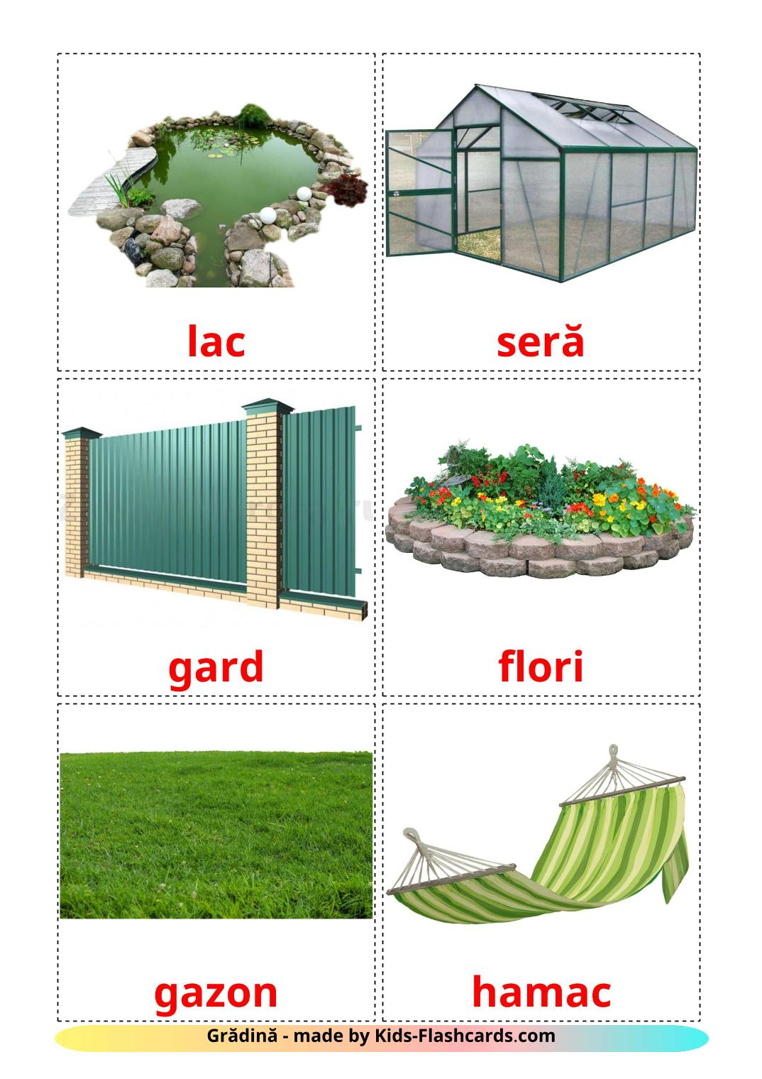 Garden - 18 Free Printable romanian Flashcards