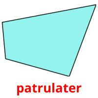 patrulater picture flashcards