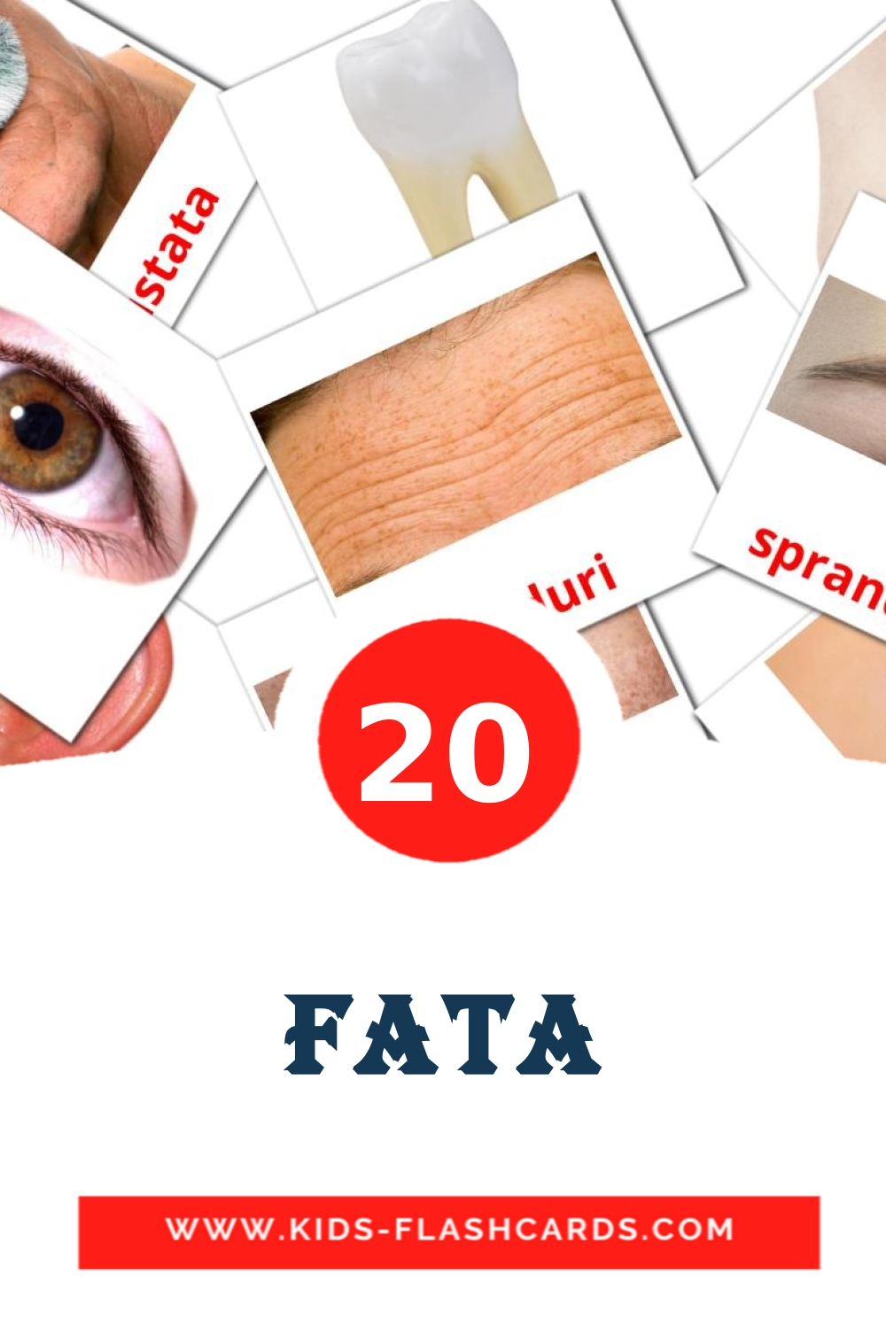 20 fata Picture Cards for Kindergarden in romanian