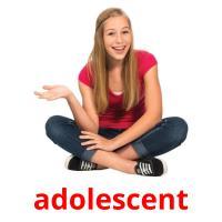 adolescent picture flashcards