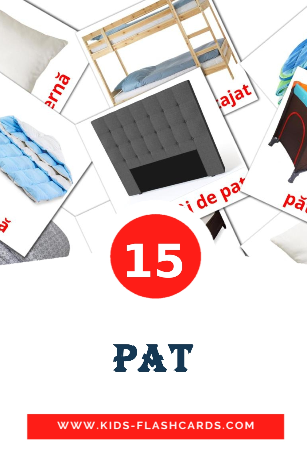 15 Pat Picture Cards for Kindergarden in romanian
