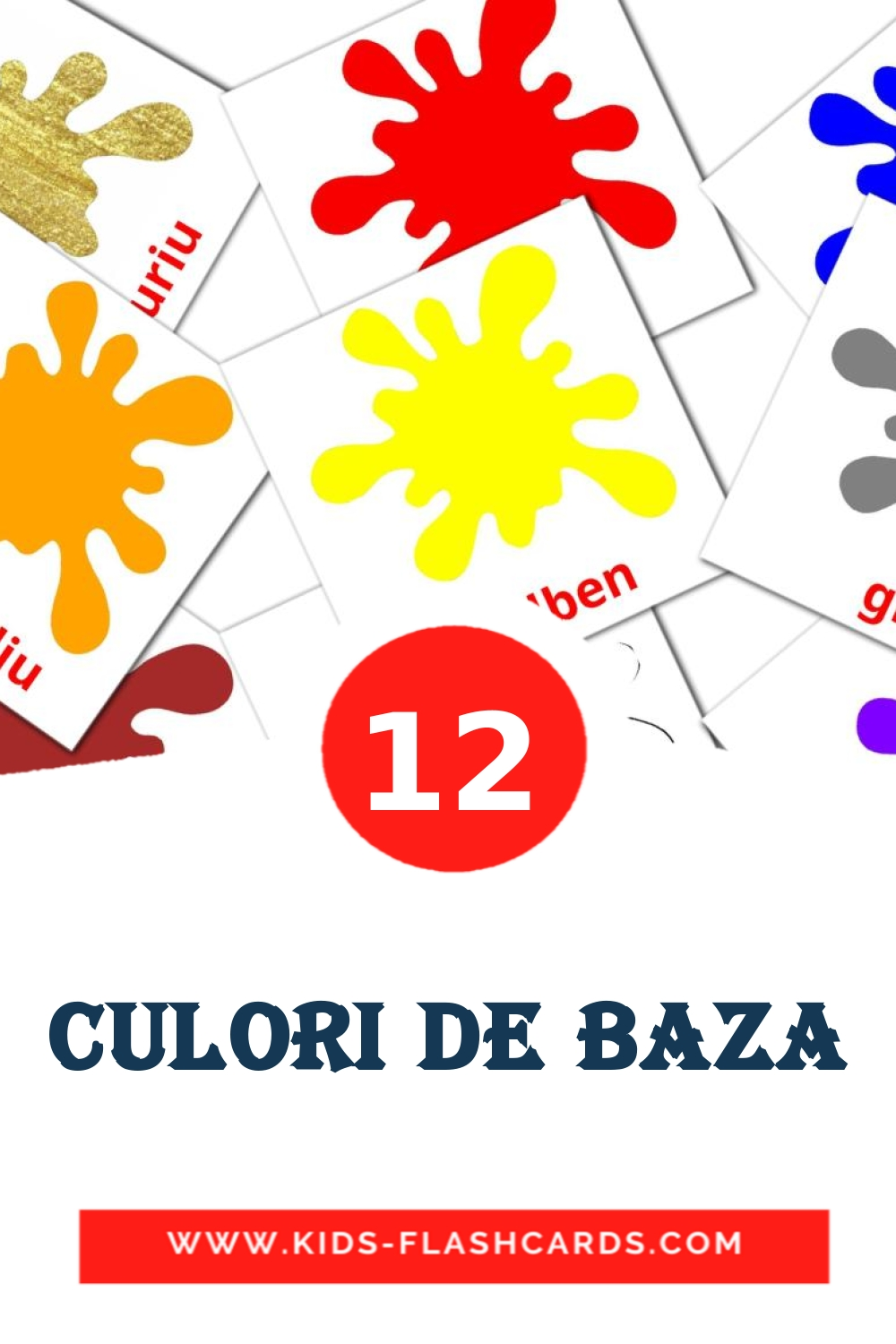 Culori de baza - free cards in romanian