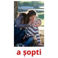 a șopti picture flashcards