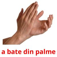 a bate din palme picture flashcards
