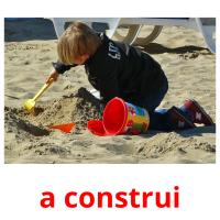a construi picture flashcards