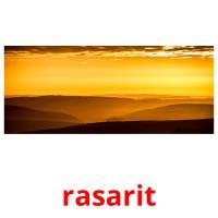 rasarit picture flashcards