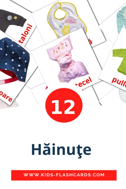 12 Hăinuţe  Picture Cards for Kindergarden in romanian