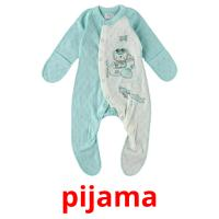 pijama picture flashcards