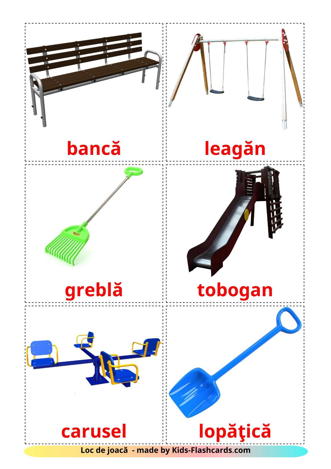 Playground - 13 Free Printable romanian Flashcards
