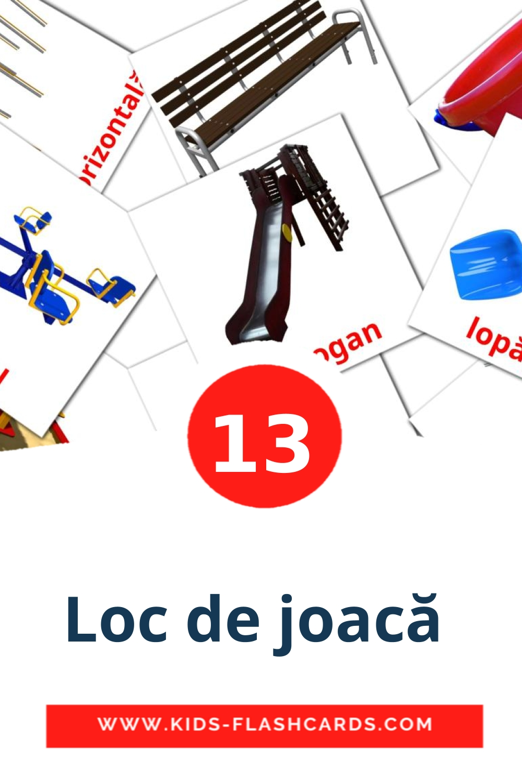 13 Loc de joacă  Picture Cards for Kindergarden in romanian