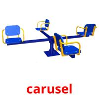 carusel picture flashcards
