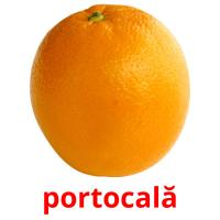 portocală picture flashcards