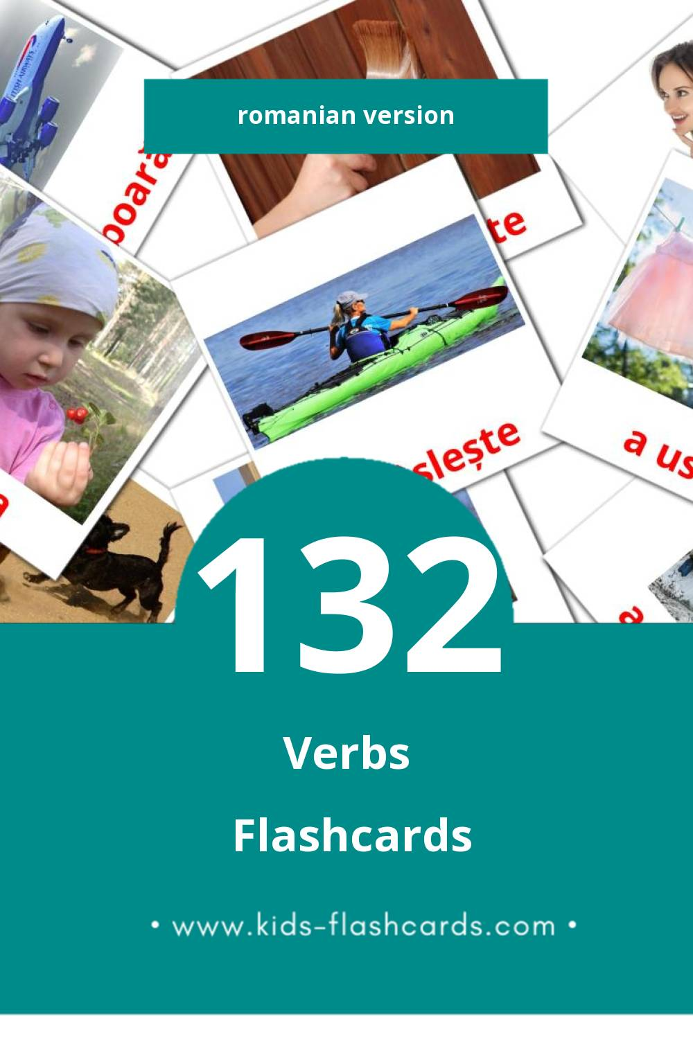 Visual Verbe  Flashcards for Toddlers (133 cards in Romanian)