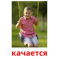 качается picture flashcards