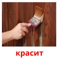 красит picture flashcards