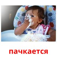 пачкается picture flashcards