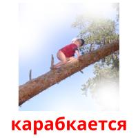 карабкается picture flashcards
