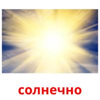 солнечно picture flashcards