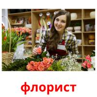 флорист picture flashcards