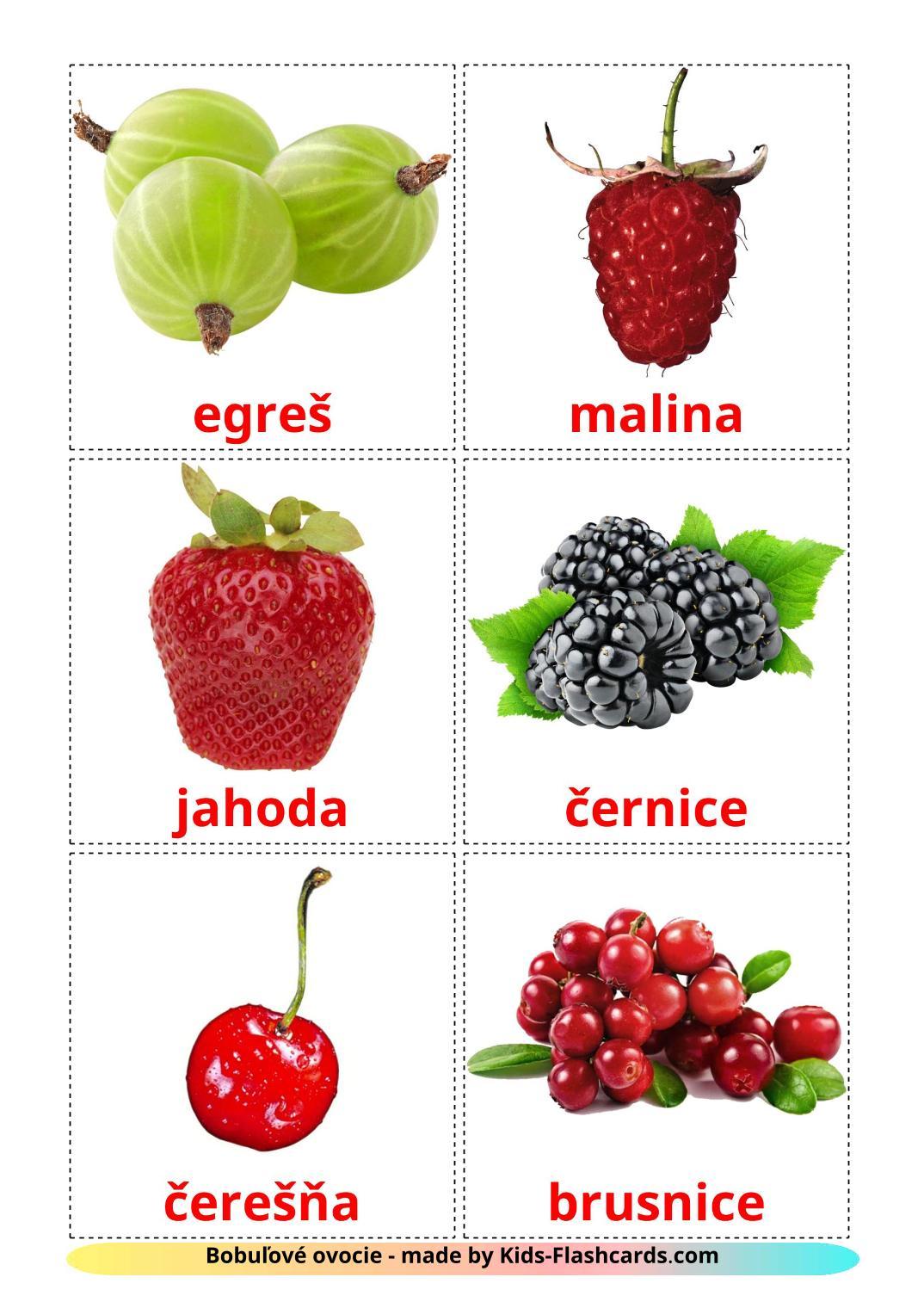 Berries - 11 Free Printable slovak Flashcards