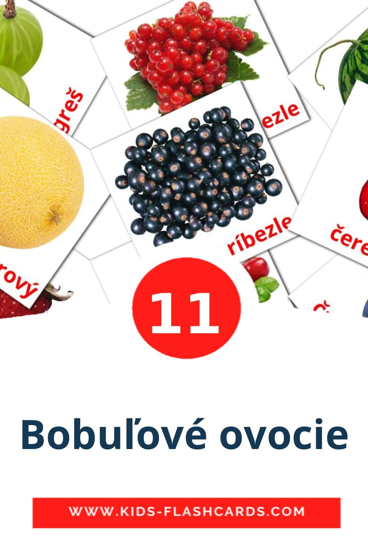 11 Bobuľové ovocie Picture Cards for Kindergarden in slovak