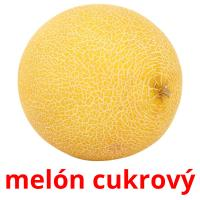 melón cukrový picture flashcards