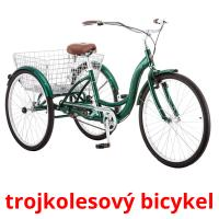trojkolesový bicykel picture flashcards