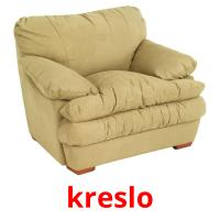 kreslo picture flashcards