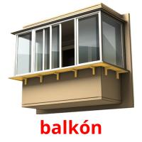 balkón picture flashcards