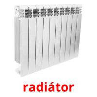 radiátor picture flashcards