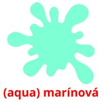 (aqua) marínová picture flashcards