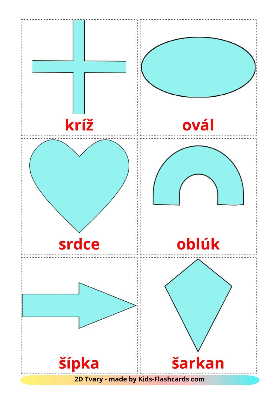 2D Shapes - 35 Free Printable slovak Flashcards