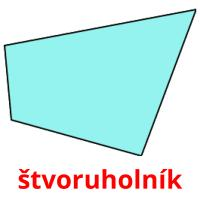 štvoruholník picture flashcards