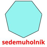 sedemuholník picture flashcards