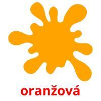 oranžová picture flashcards