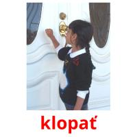 klopať picture flashcards