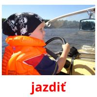 jazdiť picture flashcards