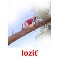 loziť picture flashcards