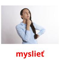 myslieť picture flashcards