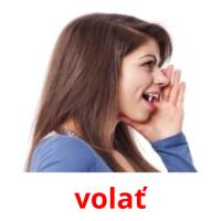 volať picture flashcards