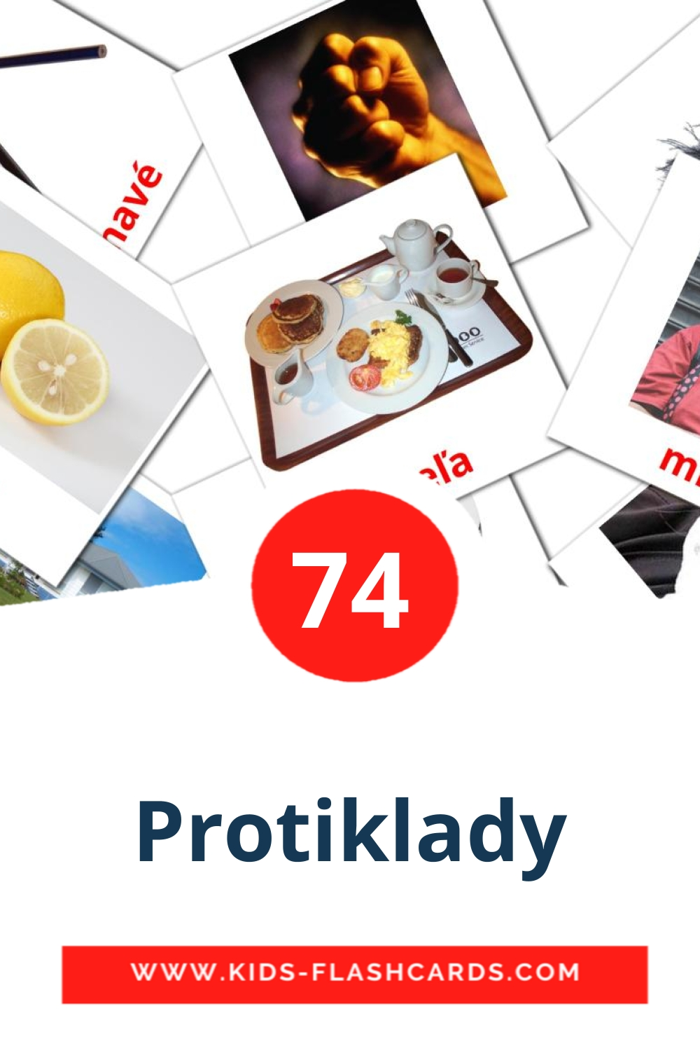74 Protiklady Picture Cards for Kindergarden in slovak