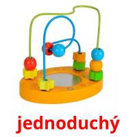 jednoduchý picture flashcards