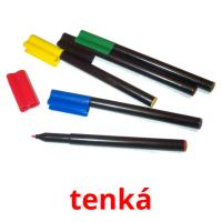 tenká picture flashcards