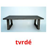 tvrdé picture flashcards