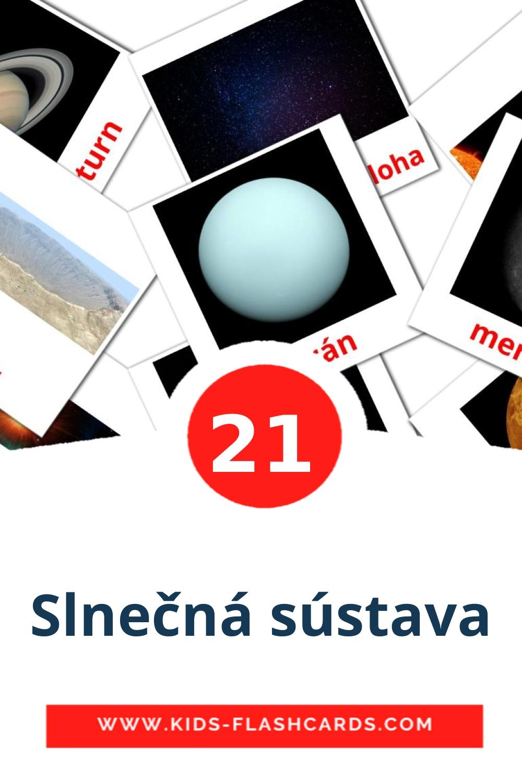 20 Slnečná sústava Picture Cards for Kindergarden in slovak
