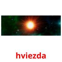 hviezda picture flashcards