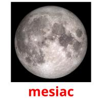 mesiac picture flashcards